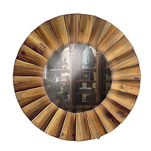 Buy Digibig Wall Mirror Décor Sunburst Wall Décor With Solid Wood Frame For Medium Traditional Style And Decorative Wall Mirror 18 X 18 Gl18021 Online In Kuwait B07mlkyl8y