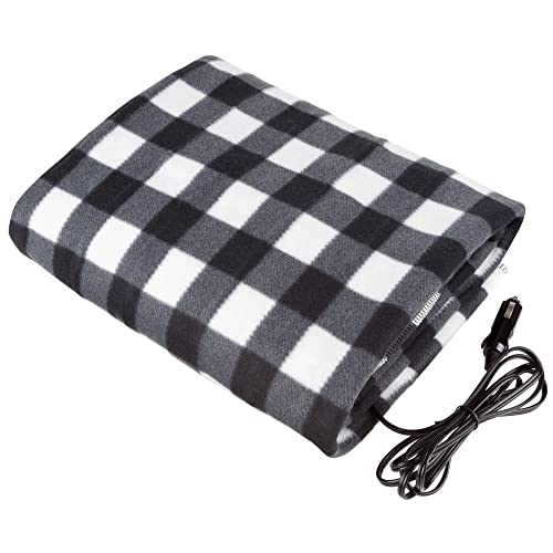 Quickly Heat Range from 113-149℉ 58 X 42 Odorless Soft Thick Travel Temperature Heating Blanket for Cars Trucks SUV RV 4350404908 Black BELEY 12V Electric Heated Car Blanket Black Quickly Heat Range from 113-149/℉