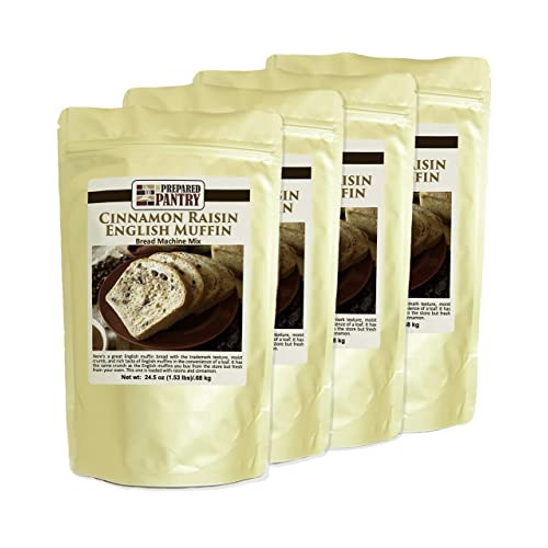 Buy The Prepared Pantry Cinnamon Raisin English Muffin Gourmet Bread Mix Four Pack For Bread Machine Or Oven Online In Kuwait B078gzdjmh
