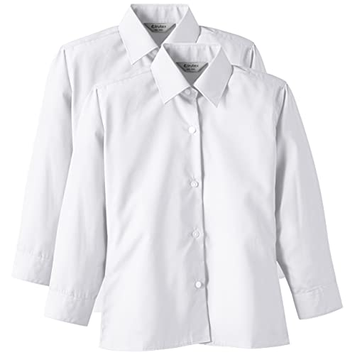 Trutex Limited Girls 2Pack Easy Care Plain Blouse