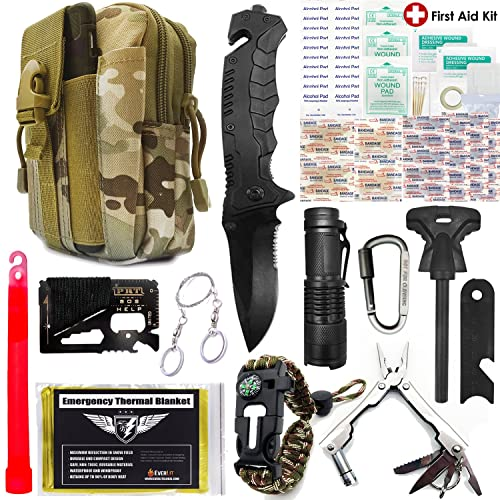9e390cd5355c Buy EVERLIT Survival Kit, 80-in-1 Outdoor Gears Tactical Tools ...