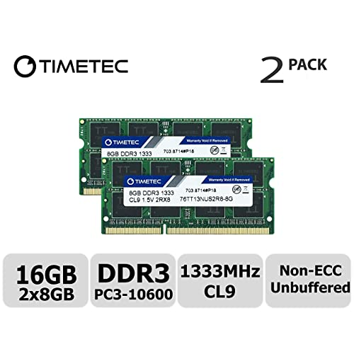 Samsung 16GB 2X8GB PC3L-10600S DDR3-1333MHZ 1.35v CL9 SO-DIMM Laptop Memory RAM