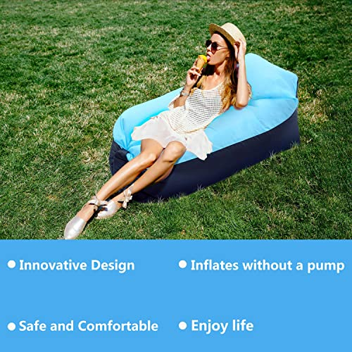 FunPa Inflatable Air Chair Lounger Ultralight Lightweight Compact Air Pad Perfect for Hiking Hammock Traveling Backpacking