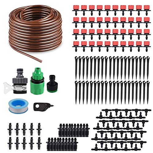 KORAM 100ft 1//4 Blank Distribution Tubing Irrigation Gardeners Greenhouse Plant Cooling Suite Watering Drip Repair and Expansion Kit Accessories include Universal Spigot Connector IR-2F DIY Crafts ® India 9994