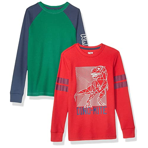 Brand Pack of 2 Spotted Zebra Boys 2-Pack Long-Sleeve Henley Shirts