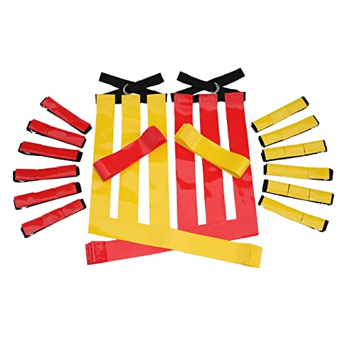 7 Red Belts 4 Red Cones 1 Red Beanbag Flag /& Storage Bag Mattys Toy Stop Deluxe 14-Man Flag Football Set with 7 Yellow Belts 4 Yellow Cones