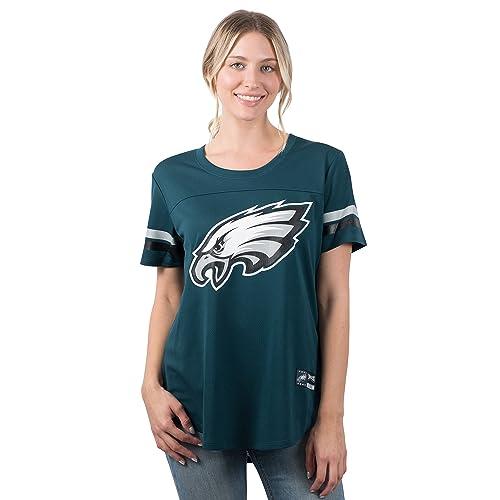 NFL Philadelphia Eagles Ultra Game Womens MESH S//S CREW YORK TEE White Medium