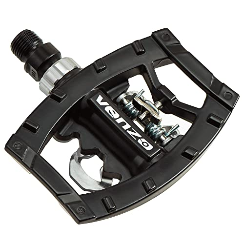 VENZO Click/'R Shimano SPD Compatible Mountain Bike Sealed Pedals With Cleats
