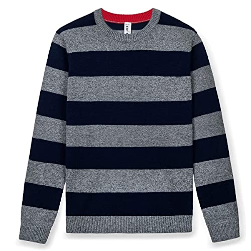 Kid Nation Boys Sweater Pullovers for Fall Crew Neck 100/% Cotton Warm Classic Fit Sweatshirt for Kids