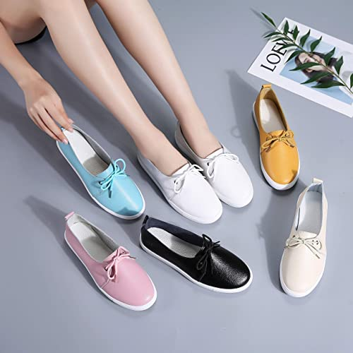 ed6f063eafafb Buy KneaBorn Womens Fashion Leather Loafers Casual Flat Slip on ...