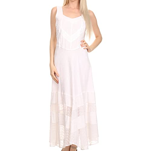 LuckyBB Women High Waist Bohemia Vintage Loose Beach Wrap Maxi Long Skirt