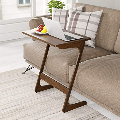 Surprising Buy Homfa Sofa Table End Table Tv Tray Z Shape Bamboo Snack Uwap Interior Chair Design Uwaporg