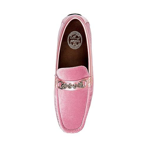 Mens Velvet Loafer Smoking Slipper Dress Shoe with Embellished Bit Amali