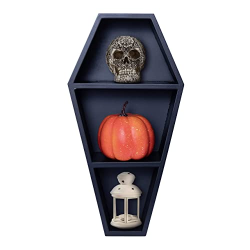 Buy Mannys Mysterious Oddities Coffin Shelf Gothic Decor For The Home Black Hanging Wooden Shelf Online In Kuwait B07z8hn212