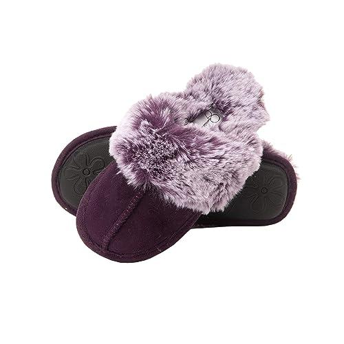 LOL Surprise Girls Slippers House Shoes Purple Plush Size Large 2-3