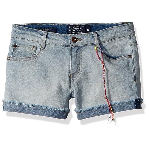 Lucky Brand Girls 5-Pocket Cuffed Stretch Denim Short