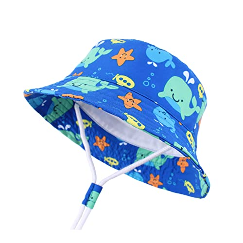 a3aba3bd73f28 Buy LANGZHEN Sun Protection Hat for Kids Toddler Boys Girls Wide Brim Summer  Play Hat Cotton Baby Bucket Hat with Chin Strap with Ubuy Kuwait. B07PZ55VWG