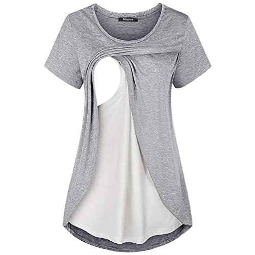 a31e9e124a22b Buy Quinee Women's Comfy Layered Nursing Top Maternity Breastfeeding Tunic  with Ubuy Kuwait. B07PTZFCN8