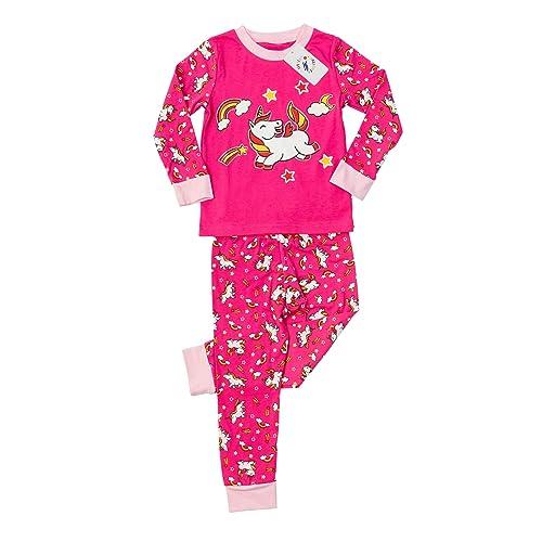 Glow in The Dark Girls Pajamas Pajamas for Girls Unicorn Pajamas Cat Pajamas Pjs Little Jupiter Mermaid Pajamas