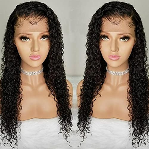 7448d901ba5 Pre Plucked Lace Front Wigs with Baby Hair Curly Hair Full Lace Wigs for  Black Women Brazilian Virgin Human Hair Wigs (12 inch Lace Front Wig, 130%  ...