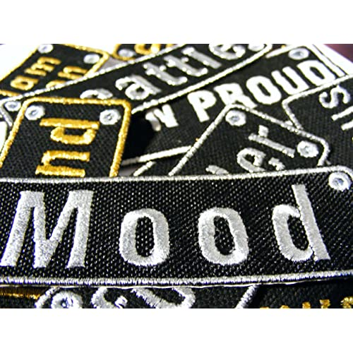 BLACK CLOTH 1 LINE PERSONALISED NAME PATCHES TAG BIKER PATCH HOOK /& LOOP,,