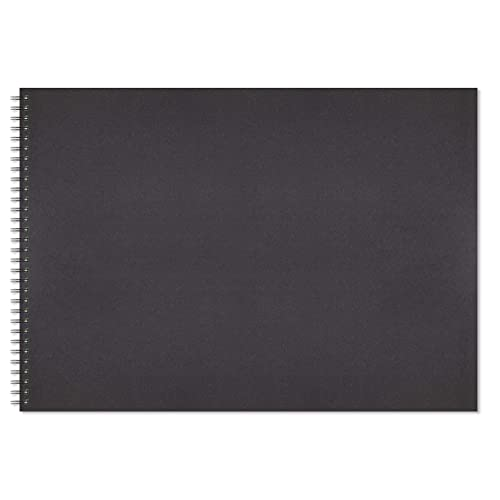 sketchbook pad A4 40 sheets 170gsm acid free cartridge paper hardback portrait