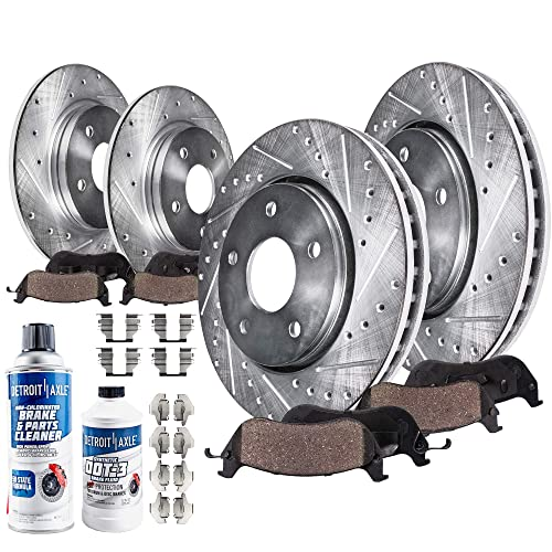 For 2001-2005 2006 2007 TOYOTA HIGHLANDER Front Brake Rotors Ceramic Pads