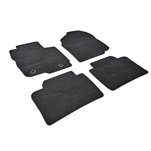 All Weather Protector 4 Piece Set Grey and Black AutoTech Zone Custom Fit Heavy Duty Custom Fit Car Floor Mat for 2009-2014 Nissan Murano SUV