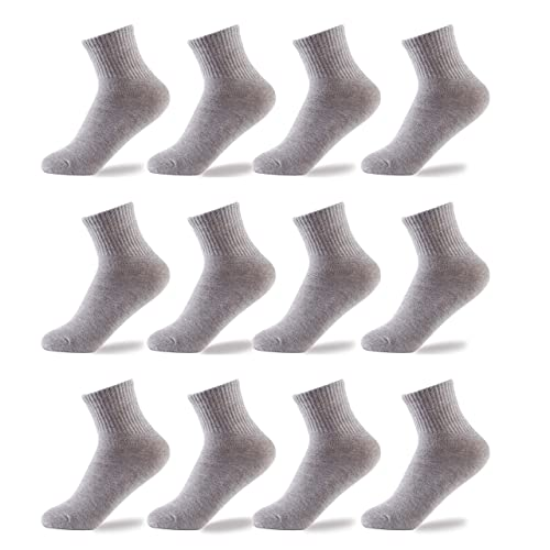 Oohmy Boys Socks Fit for 2-12 Years Old Boys and Girls Cotton Athletic Ankle Socks for Toddler Kids and Big Kids