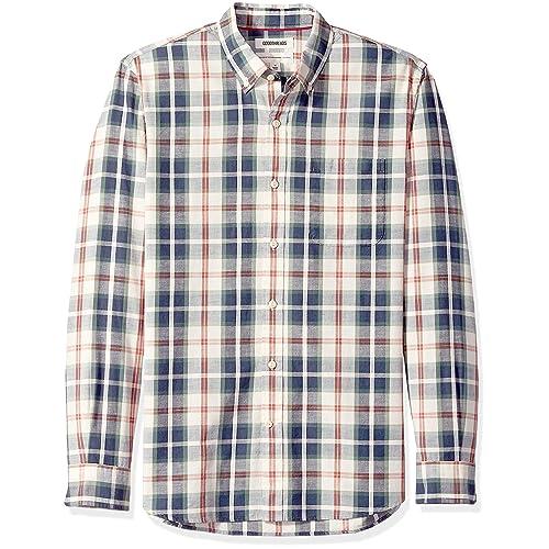 Brand Goodthreads Mens Standard-fit Long-sleeve Pattern Chambray Button Down Shirt