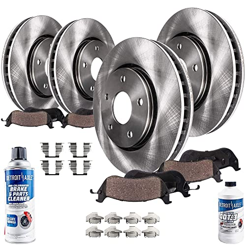 2004 2005 2006 2007 For BMW X3 Rear Disc Brake Rotors and Ceramic Pads