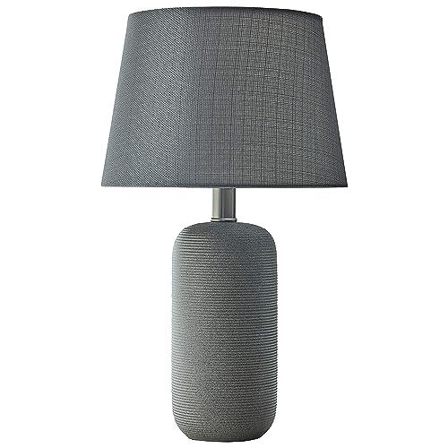 Gray Ceramic Stone Table Lamp Bedroom Room Dorm Accent Lighting Bed Side Light