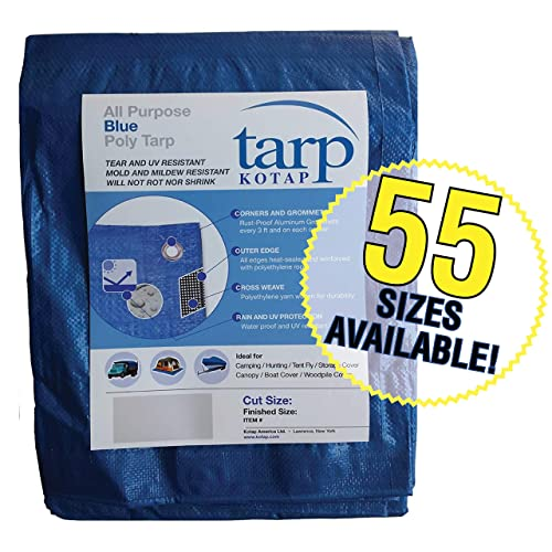 TGS-1620 Kotap America Item Kotap 16-ft x 20-ft Heavy-Duty 12 by 12 Cross Weave 8-mil Reversible Green//Silver Poly Tarp