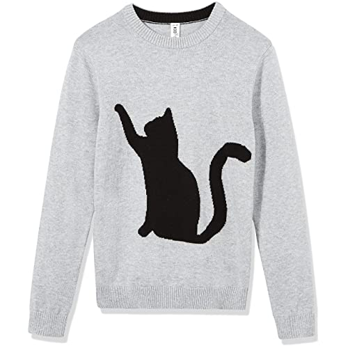 Kid Nation Kids Sweater Cotton Casual Pullover Long Sleeve Basic Crew Neck Style School Uniform Sweater for Boys or Girls