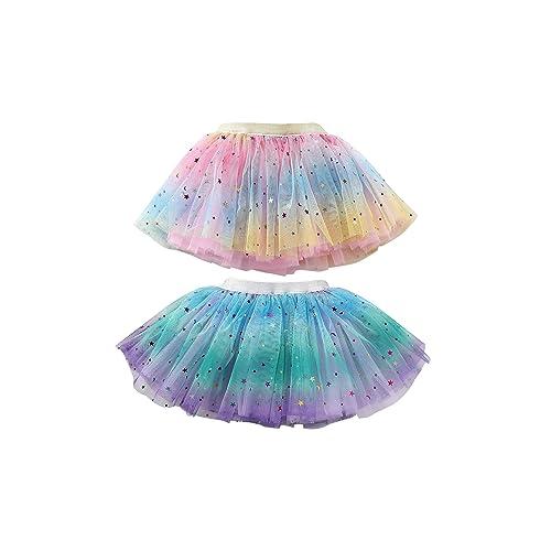 WGOODTECK Newborn Infant Baby Girls Super Soft Glitter Sparkle Tulle Tutu Skirt /…