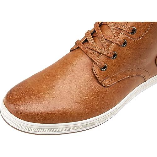 aliexpress 2018 sneakers online here Buy JOUSEN Men's Fashion Sneakers High Top Dress Sneakers Chukka ...