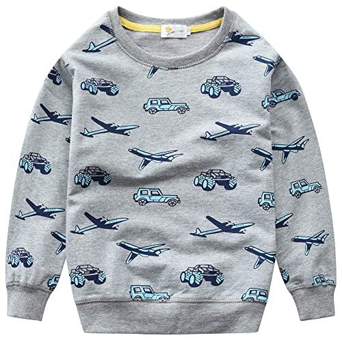 Mud Kingdom Little Boys Sweater Pullover Cartoon Crocodile Green