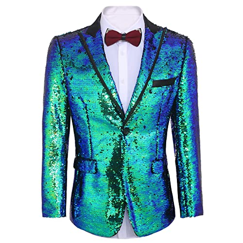 b6a14019 Buy COOFANDY Men's Shiny Sequins Suit Jacket Blazer One Button Tuxedo for  Party,Wedding,Banquet,Prom with Ubuy Kuwait. B076J7SX5M