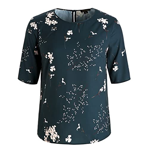 3928b06062 Buy Chicwe Women's Plus Size Floral Printed Blouse with Keyhole Neck -  Casual and Work Top with Ubuy Kuwait. B074P3N1T9