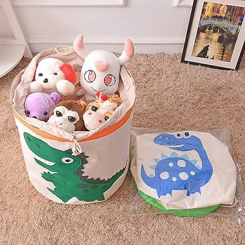 Elephant//Pink Znvmi Toys Storage Basket Thicken Fabric Laundry Hamper Large Foldable Washing Bin for Home Kids Room Nursery Decor
