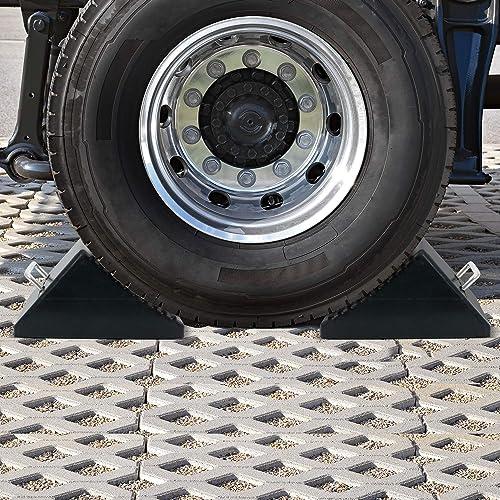 AFA Tooling Nylon Reinforced Set of Two Heavyweight Wheel Chocks with Eyebolts