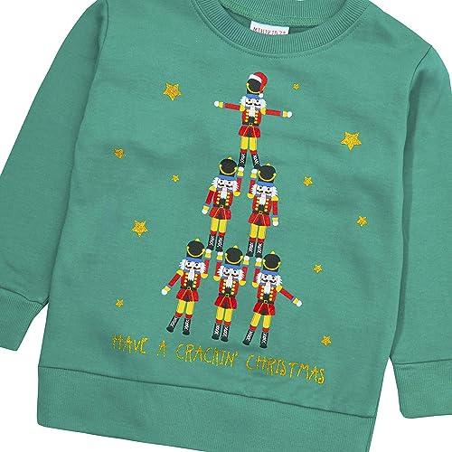 Lonshell/_Toddler Clothing Baby Boys Christmas Sweatshirt O-Neck