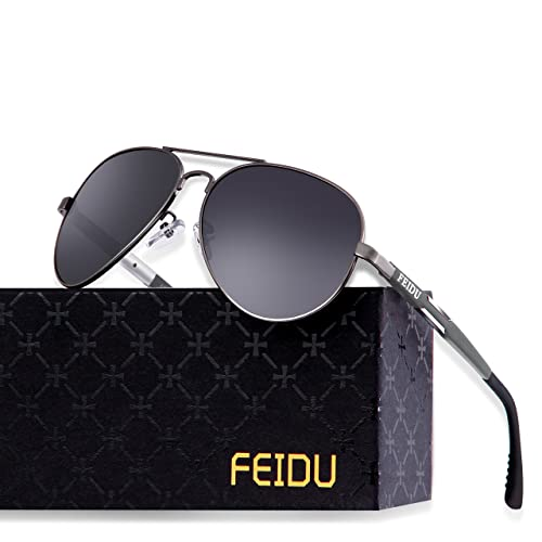 7561c86013015 Buy FEIDU Mens Polarized Aviator Sunglasses Metal Frame Unisex Sun Glasses  FD9001 with Ubuy Kuwait. B073VMYLSW