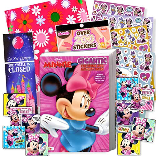 Disney Minnie Mouse Coloring Book And Stickers Gift Set - Bundle Includes  Gigantic 192 Pg Minnie Mouse Coloring Book, Minnie Mouse Stickers, And  2-Sided Door Hanger, In Specialty Gift Bag Buy