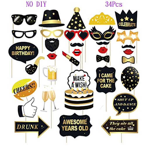 13th Birthday Photo Booth Party Props Sterling James Co 40 Pieces Funny Official Teenager Birthday Party Supplies Decorations and Favors