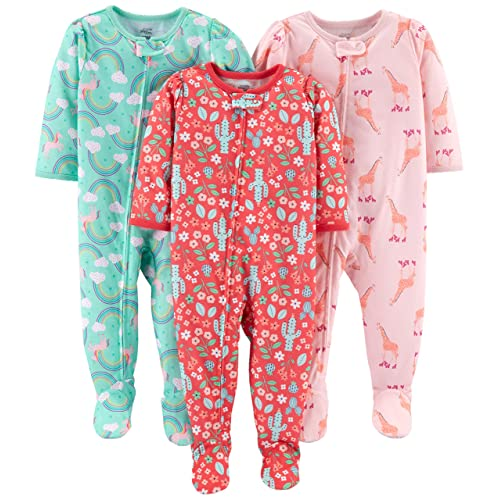 a95642761653 Buy Simple Joys by Carter's Baby and Toddler Girls' 3-Pack Loose Fit  Polyester Jersey Footed Pajamas with Ubuy Kuwait. B07CL16VVF