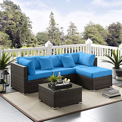 Tribesigns 5 Pcs Outdoor Furniture, Outdoor Furniture Sectional Sofa