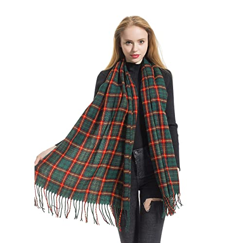 large Soft Warm Wool Collection  designer check style soft Plaid scarf shawl