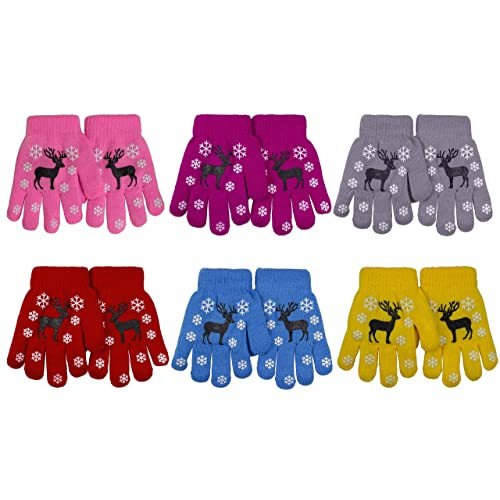 Gelante Toddler//Children Winter Knitted Magic Gloves Wholesale Lot 6-12 Pairs