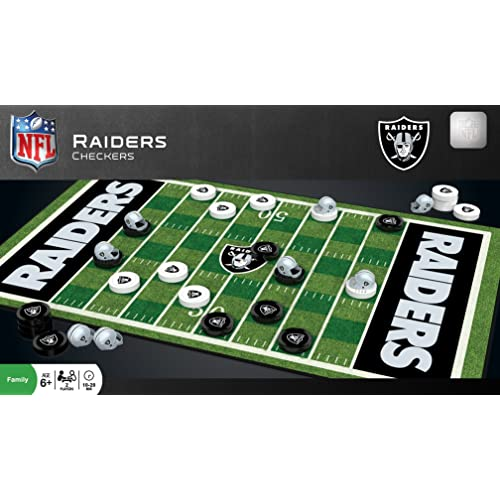 Buy Masterpieces Nfl Raiders Checkers Board Game Set For 2 Players Ages 6 Online In Kuwait B074y8zjyk